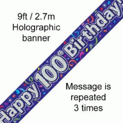 100th Birthday Banner-0