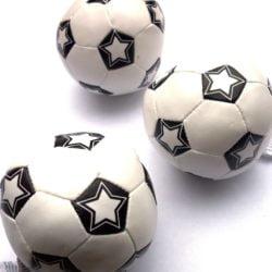 Mini Soft Football (9cm) Black & White-0