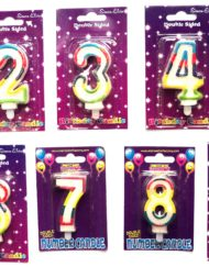 Multi Colour Number Candle-0