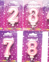 Pink Number Candle-0