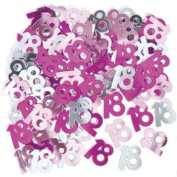 18th Pink Table Confetti-0