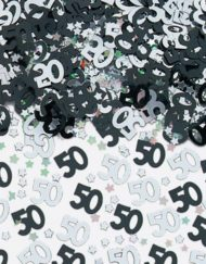 Black and Silver 50th Confetti-0