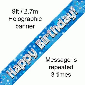 Birthday banner Blue-0