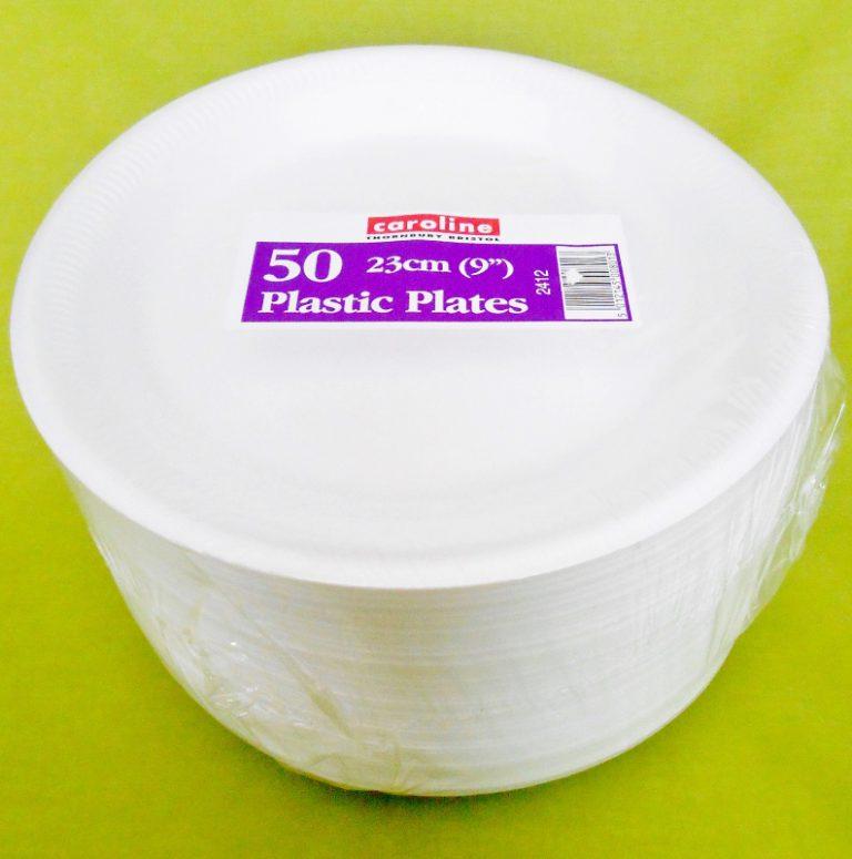 "50 x 9"" Foam (Polystyrene) Plates-0"