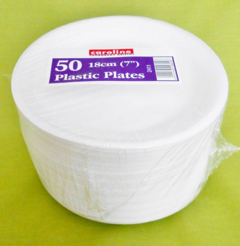 "50 x 7"" Foam (Polystyrene) Plates-0"