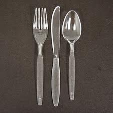 Heavy Duty Clear Plastic forks x 50-0