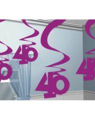 40th Hanging Swirl Decoration -0