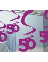 50th Hanging Swirl Decoration -0