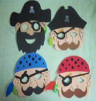 EVA foam pirate masks -845