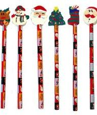 Christmas Pencil & Eraser-0