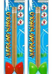 Diabolo 9cm W/wooden Sticks 2 Astd Cols-0