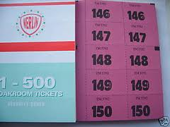 Merlin brand Raffle Tickets 1-500-0