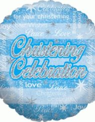 Christening Celebration Boy Holographic-0
