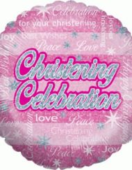 Christening Celebration Girl Holographic-0
