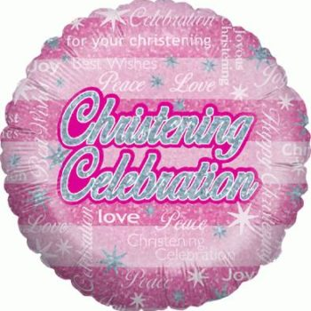 Christening Celebration Girl Holographic-0