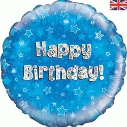 "Blue Birthday 18"" Foil Balloon-0"