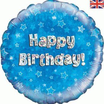 "Blue Birthday 18"" Foil Balloon-0"