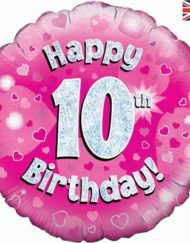 "10th Birthday 18"" Pink Foil Balloon-0"