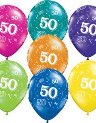 50th Birthday Latex Balloon -0