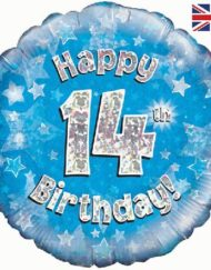 "14th Birthday Blue 18"" Foil Balloon-0"
