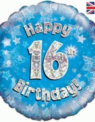 "16th Birthday 18"" Blue Foil Balloon -0"
