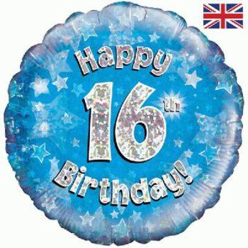 "16th Birthday 18"" Blue Foil Balloon -0"