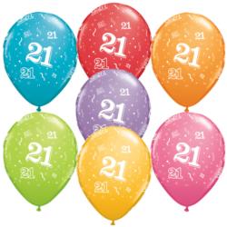 21st Birthday Latex Balloon-0