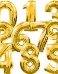 "34"" Gold Super Shape foil Balloon -0"