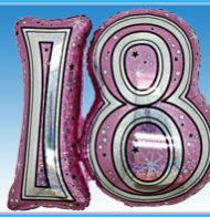 """28"""" Pink Joined Number Foil Balloon-1259"""