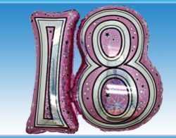 "28"" Pink Joined Number Foil Balloon-1259"