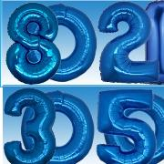 "34"" Blue SuperShape Foil Balloon-0"