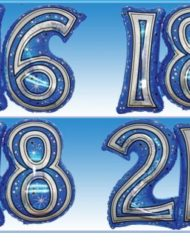 "28"" Blue Joined Number Foil Balloon-0"