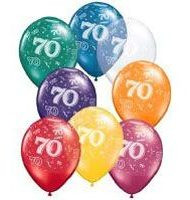 70th Birthday Latex Balloon-0