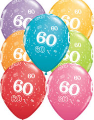 60th Birthday Latex Balloon-0