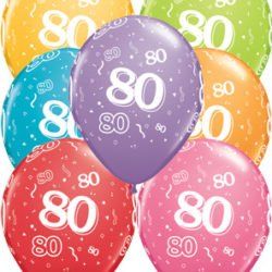 80th Birthday Latex Balloon-0