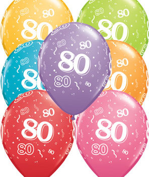80th Birthday Latex Balloon-0