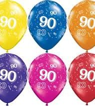 90th Birthday Latex Balloon-0