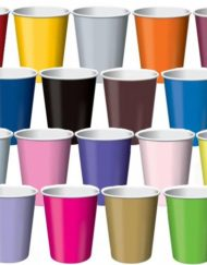Paper coloured cups 10 X 12oz(355ml) -0