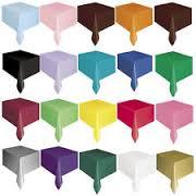 "Plastic Tablecover/Tablecloth {54"" x 108""}{137cm x 274cm}-0"