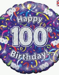 100th Birthday Streamers Foil Balloon-0