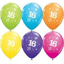 16th Birthday latex balloon-0