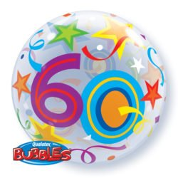 "22"" 60th Bubble balloon-0"