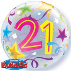 "22"" 21st Bubble Balloon-0"