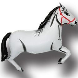 "30"" Horse White SuperShape Balloon-0"