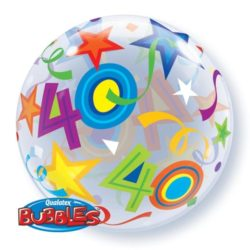 "22"" 40th Bubble Balloon-0"