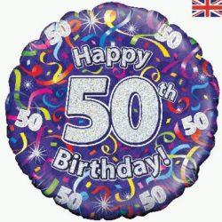 50th Birthday Streamers Foil Balloon-0