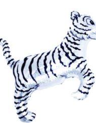 "30"" Tiger Silver SuperShape Balloon-0"