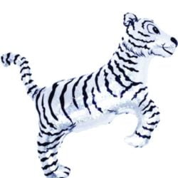 "30"" Tiger Silver SuperShape Balloon-0"