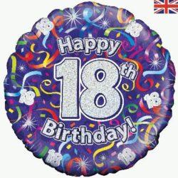 18th Birthday Streamers Foil Balloon-0