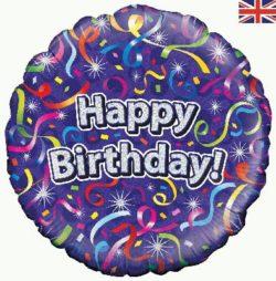 Birthday Streamers Foil Balloon-0